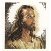 """Portrait Of Christ Counted Cross Stitch Kit, 6-7/8""""X7-3/4"""" 14 Count"""
