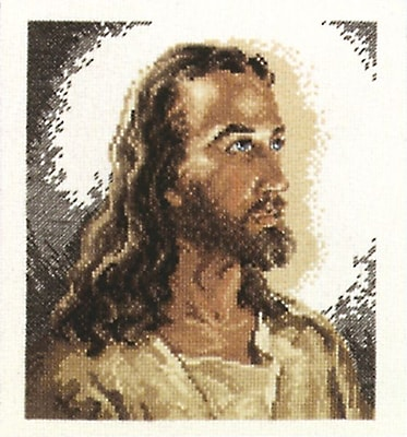 Portrait Of Christ Counted Cross Stitch Kit, 6-7/8
