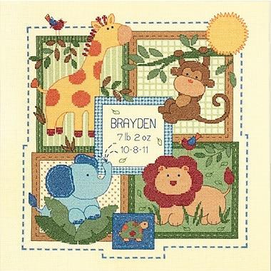 Baby Hugs Savannah Birth Record Counted Cross Stitch Kit, 12