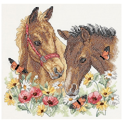 Horse Friends Stamped Cross Stitch Kit, 12