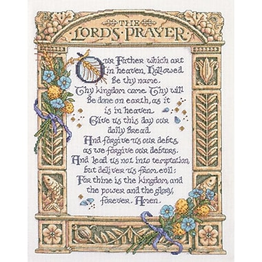 Lord's Prayer Counted Cross Stitch Kit, 11-1/4