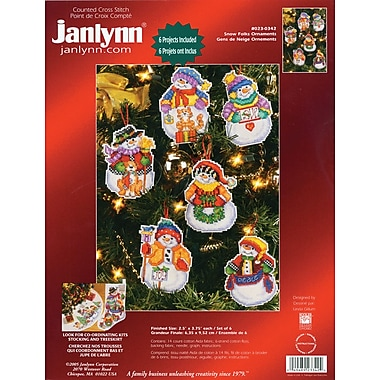 Snow Folks Ornaments Counted Cross Stitch Kit, 3