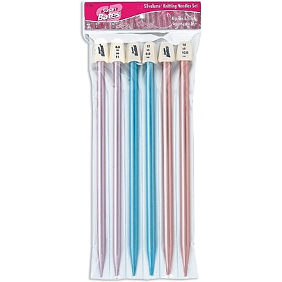 Silvalume Single Point Knitting Needles 10