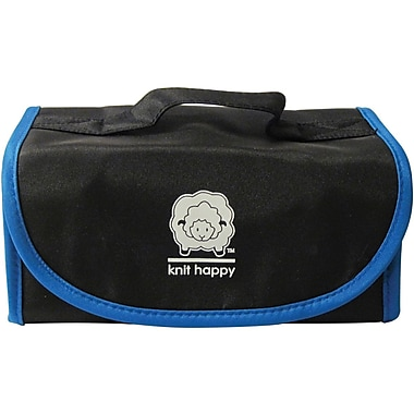 Knit Happy Fold 'n Go Notions Box, Black/Blue