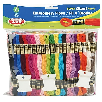 Embroidery Floss Super Giant Pack, Assorted Colors