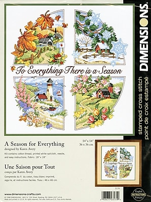 A Season For Everything Stamped Cross Stitch Kit, 14