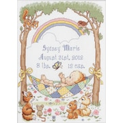 "Our Little Blessing Birth Record Counted Cross Stitch Kit, 10""X13-1/2"" 14 Count"
