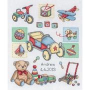 """Boy Birth Record Counted Cross Stitch Kit, 9-1/2""""X7-3/4"""" 16 Count"""