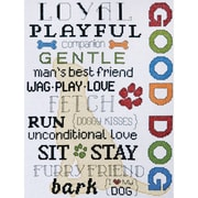 """Good Dog Counted Cross Stitch Kit, 9""""X12"""" 14 Count"""