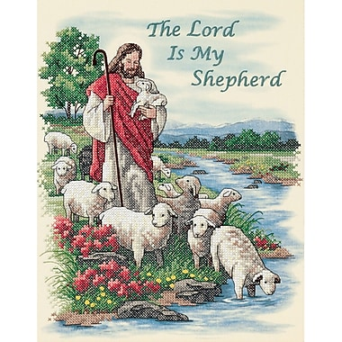The Lord Is My Shepherd Stamped Cross Stitch Kit, 11