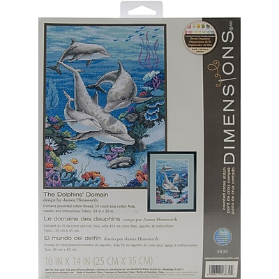 The Dolphins' Domain Counted Cross Stitch Kit, 10