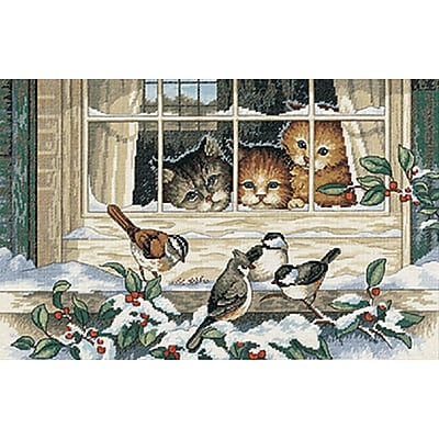 Three Bird Watchers Counted Cross Stitch Kit, 14