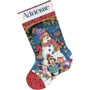 """Cute Carolers Stocking Counted Cross Stitch Kit, 16"""" Long 14 Count"""