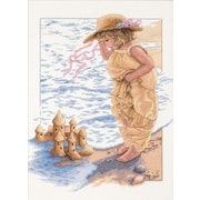 "Sandcastle Dreams Counted Cross Stitch Kit, 11""X14"" 14 Count"