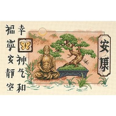 Bonsai And Buddha Counted Cross Stitch Kit, 14