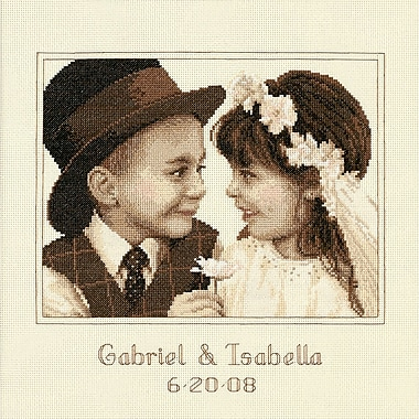 First Love Wedding Record Counted Cross Stitch Kit, 11