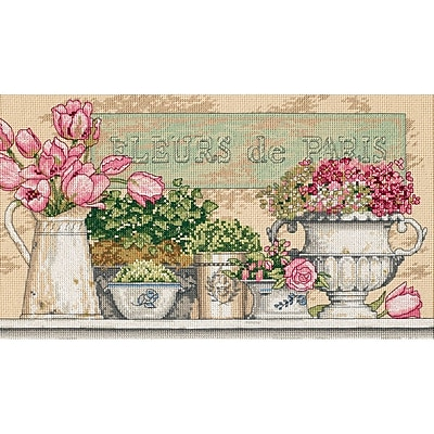 Flowers Of Paris Counted Cross Stitch Kit, 14