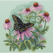 """Butterfly & Daisies Counted Cross Stitch Kit, 11""""X11"""" 14 Count"""