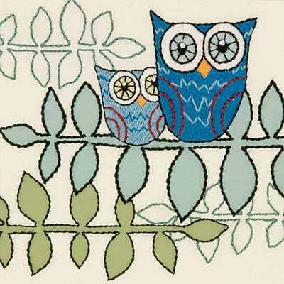 Handmade Collection Owl Crewel Embroidery Kit, 10