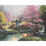 "Thomas Kinkade Stepping Stone Cottage Counted Cross Stitch Kit, 14""X11"" 14 Count"