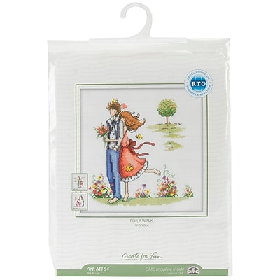 Couple In The Park Counted Cross Stitch Kit, 8