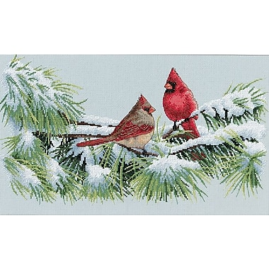 Winter Cardinals Counted Cross Stitch Kit, 15