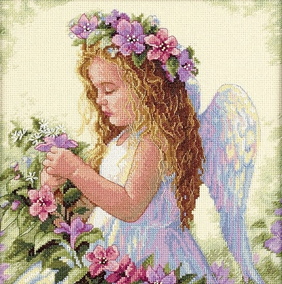 Passion Flower Angel Counted Cross Stitch Kit, 11