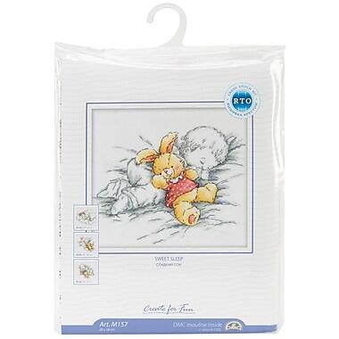 Baby W/Rabbit Counted Cross Stitch Kit, 8