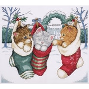 """Cozy Kittens Counted Cross Stitch Kit, 12""""X14"""" 14 Count"""