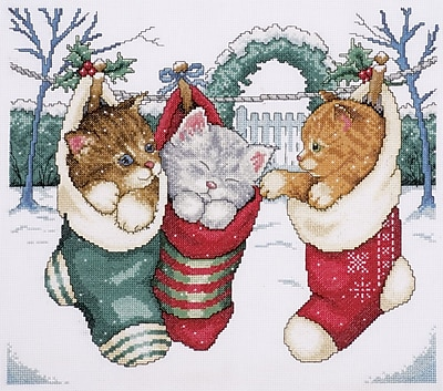 Cozy Kittens Counted Cross Stitch Kit, 12