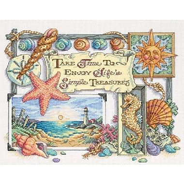 Simple Treasures Counted Cross Stitch Kit, 14