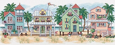 Seaside Cottages Counted Cross Stitch Kit, 18