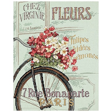 Parisian Bicycle Counted Cross Stitch Kit, 11