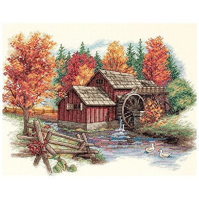 Glory Of Autumn Counted Cross Stitch Kit, 14