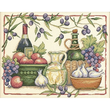 Tuscan Flavors Counted Cross Stitch Kit, 14