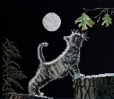 """""""""""Max's Moon Counted Cross Stitch Kit, 12""""""""""""""""X9-1/4"""""""""""""""" 14 Count"""""""""""" 28092"""