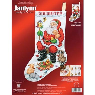 Santa & Animals Stocking Counted Cross Stitch Kit, 18