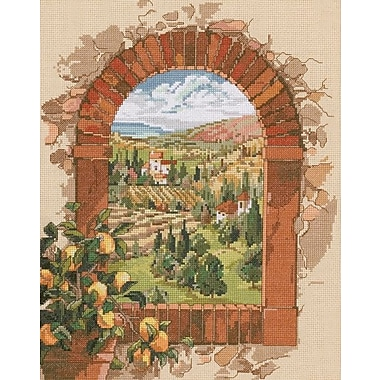 Dreaming Of Tuscany Counted Cross Stitch Kit, 11