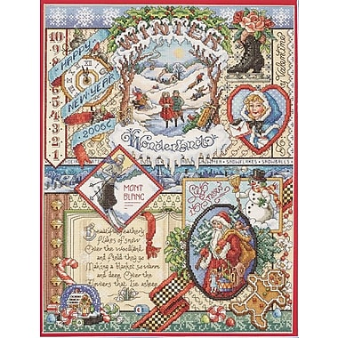 Winter Sampler Counted Cross Stitch Kit, 12