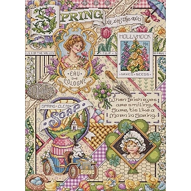 Spring Sampler Counted Cross Stitch Kit, 12