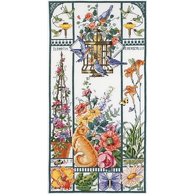 Summer Cat Sampler Counted Cross Stitch Kit, 8