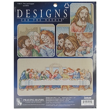 The Last Supper Counted Cross Stitch Kit, 26-1/2