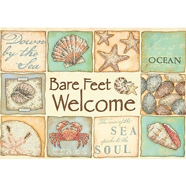 Bare Feet Welcome Stamped Cross Stitch Kit, 14