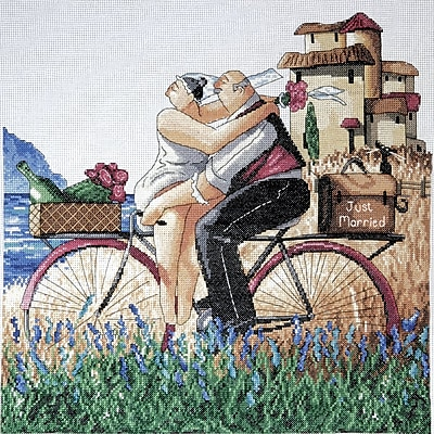 Just Married Counted Cross Stitch Kit, 14