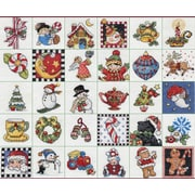 "Mary Engelbreit Ornaments Counted Cross Stitch Kit, 2""X2"" 14 Count Set Of 30"