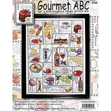 Gourmet ABC Counted Cross Stitch Kit, 16