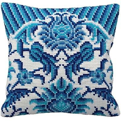 Zelliges Gauche Pillow Cross Stitch Kit, 15-3/4