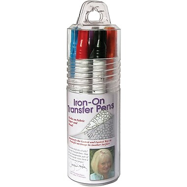 Iron-On Transfer Pen, Blk/Blu/Brn/Red/Orn/Grn/Pur/Yel