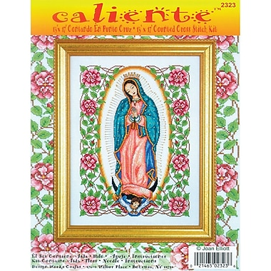Caliente Our Lady Of Guadalupe Counted Cross Stitch Kit, 13