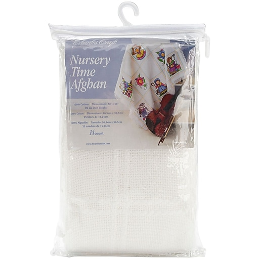 Nursery Time Afghan, Antique White